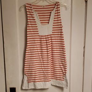 J.Crew Orange & White Striped Dress